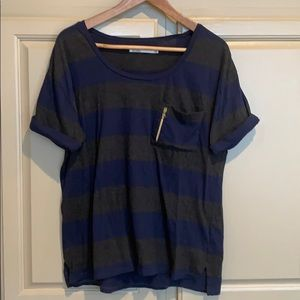 Madewell (Hi Line) T-shirt with zipper